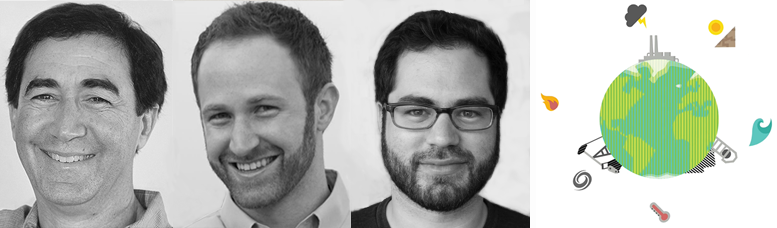 Reducing climate risk through savvy investment is the focus of Macroclimate's intergenerational team. From left: Mark, Peter and Jesse